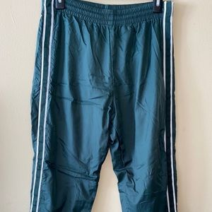 forest green button up track pants